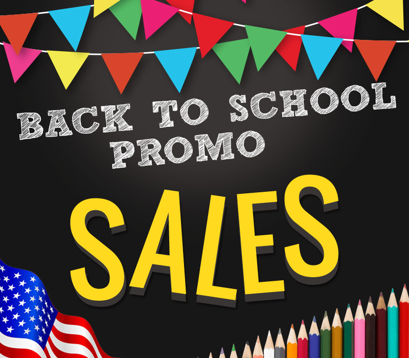 Back to school and Labor day sale